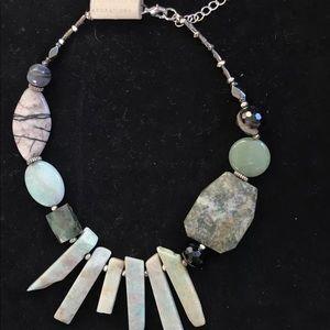 NAKAMOL/Anthropologie polishes stone necklace NWT